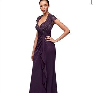 Brand new plum Gown, never worn
